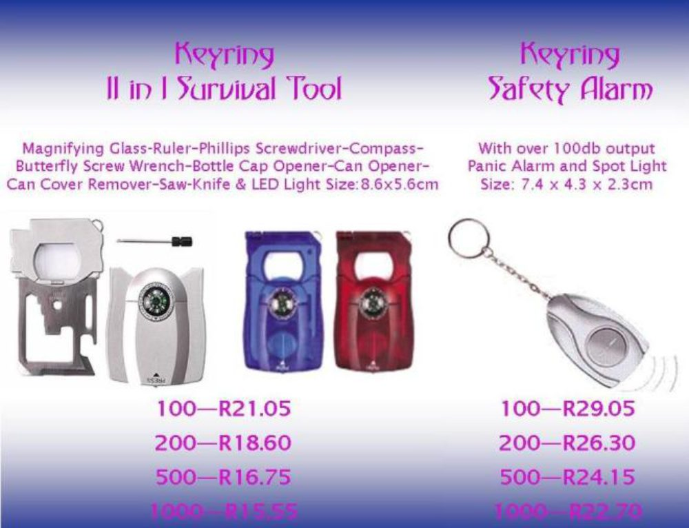 Safety is Simple… Survival Tool & Personal Alarm